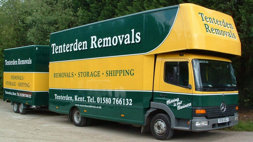 Tenterden Removals and Storage Lorry with Container Trailer